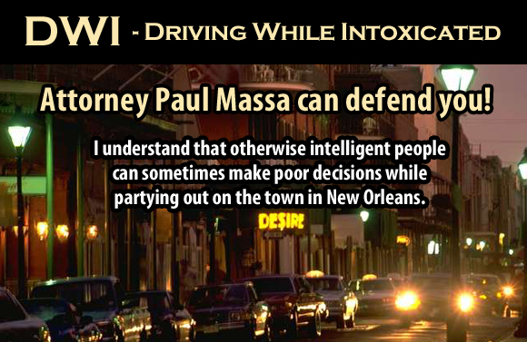 New Orleans DWI Lawyer Paul Massa